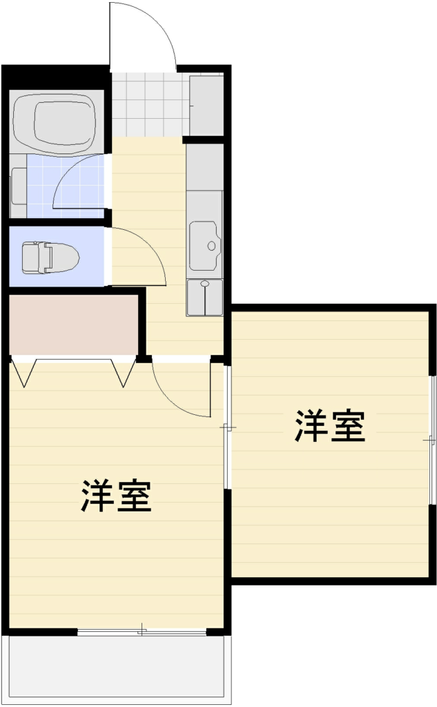 コーポ岩谷201号室 間取図